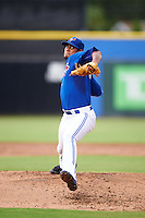 GCL Blue Jays relief pitcher Yonardo Herdenez (31) during the first game of a doubleheader against the GCL Phillies on August 15, 2016 at Florida Auto Exchange Stadium in Dunedin, Florida.  GCL Phillies defeated the GCL Blue Jays 7-5 in a continuation of a game originally started on July 30th.  (Mike Janes/Four Seam Images)