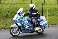 22nd May 2021, Monte Zoncolan, Italy; Giro d'Italia, Tour of Italy, route stage 14, Cittadella to Monte Zoncolan; A policeman on a motorbike