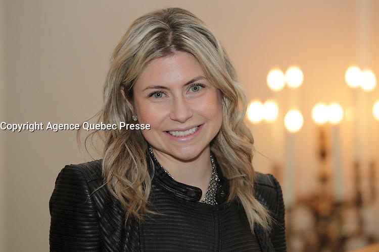 Eliane gamache<br /> , la jeune milionnaire lors de son lancement de livre en novembre 2014.<br /> <br /> <br /> PHOTO : Agence Quebec Presse