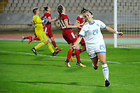 20190301 - LARNACA , CYPRUS : Italian midfielder Annamaria Serturini celebrating her goal pictured during a women's soccer game between Hungary and Italy , on Friday 1 March 2019 at the GSZ Stadium in Larnaca , Cyprus . This is the second game in group B for both teams during the Cyprus Womens Cup 2019 , a prestigious women soccer tournament as a preparation on the FIFA Women's World Cup 2019 in France . PHOTO SPORTPIX.BE | STIJN AUDOOREN