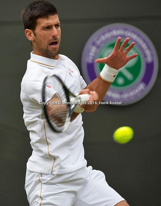 London, England, 2 July, 2016, Tennis, Wimbledon, Novak Djokovic (SRB)<br /> Photo: Henk Koster/tennisimages.com