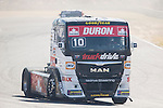Monegasque driver Ellen Lohr belonging German team Truck Sport Lutz Bernau during the fist race R1 of the XXX Spain GP Camion of the FIA European Truck Racing Championship 2016 in Madrid. October 01, 2016. (ALTERPHOTOS/Rodrigo Jimenez)