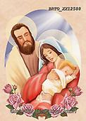 Alfredo, HOLY FAMILIES, HEILIGE FAMILIE, SAGRADA FAMÍLIA, paintings+++++,BRTOXX12588,#xr#