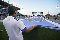 SAN JOSE, CA - AUGUST 17: Pre-game before a game between Minnesota United FC and San Jose Earthquakes at PayPal Park on August 17, 2021 in San Jose, California.