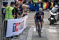 Julian Alaphilippe (FRA/Deceuninck - Quick Step) solo's up the Antoniusberg one last time (less then 2km to go)<br /> <br /> Elite Men World Championships - Road Race<br /> from Antwerp to Leuven (268.3km)<br /> <br /> UCI Road World Championships - Flanders Belgium 2021<br /> <br /> ©kramon