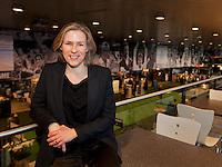 Rotterdam, The Netherlands. 15.02.2014. Jolanda Jansen at the ABN AMRO World tennis Tournament<br /> Photo:Tennisimages/Henk Koster