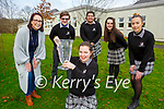 Aoife O'Brien  and her fellow Killarney Communty College  students who won the best group  for their Young Social Innovators project 'Be Dementia Aware' at the Garda Youth awards on Wednesday  Lorraine Crowley teacher, Ben Cussen, Caoimhe Fleming, Julia Olabode, and Darga Puzanove