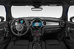 Stock photo of straight dashboard view of 2021 MINI MINI Cooper-Yours 5 Door Hatchback Dashboard