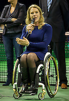 Rotterdam, The Netherlands. 15.02.2014. Esther Vergeer(NED) at the ABN AMRO World Wheelchair tennis Tournament<br /> Photo:Tennisimages/Henk Koster