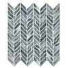 Chevron, shown in polished Greystoke is part of New Ravenna's Studio Line of ready to ship mosaics.