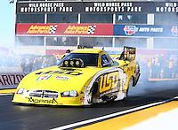 Feb 26, 2017; Chandler, AZ, USA; NHRA funny car driver Jim Campbell during the Arizona Nationals at Wild Horse Pass Motorsports Park. Mandatory Credit: Mark J. Rebilas-USA TODAY Sports