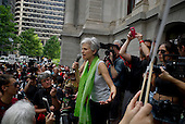 Philadelphia, Pennsylvania<br /> July 25, 2016 <br /> <br /> Philadelphia, Pennsylvania<br /> July 25, 2016 <br /> <br /> Third party candidate, Jill Stein of the Green Party speaks to a crowd at a demonstration during the Democratic National Convention's (DNC) opening day. The rally was in support of Bernie Sanders and third party candidate, Jill Stein of the Green Party.