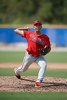 Philadelphia Phillies pitcher Josh Gessner (41) during an Instructional League game against the Toronto Blue Jays on September 27, 2019 at Englebert Complex in Dunedin, Florida.  (Mike Janes/Four Seam Images)