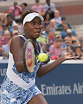 Venus Williams (USA) defeats Anett Kontaveit (EST)  6-2, 6-1 at the US Open in Flushing, NY on September 6, 2015.