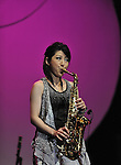Kaori Kobayashi, Mar 03, 2013 : .Kaori Kobayashi, Japanese jazz saxophonist and flautist performance at Java Jazz Festival 2013. Java Jazz Festival 2013 tagline Jazz Up The World, featuring 50 international jazz musicians and 150 locals would be held in Jakarta International Expo Kemayoran, March 1-3, 2013 with 17 stages and more than 60 shows. (Photo by Robertus Pudyanto/Aflo)