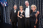 © Joel Goodman - 07973 332324 . 05/03/2015 .  Midland Hotel , Manchester , UK . L-R Eamonn O'Neill , winner Nancy Brown of Eversheds LLP , sponsor ( First Title ) and Louise Straw . Property Team of the Year . The Manchester Legal Awards 2015 . Photo credit : Joel Goodman