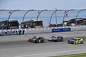 #19: Brandon Jones, Joe Gibbs Racing, Toyota Supra 1st Foundation, #9: Noah Gragson, JR Motorsports, Chevrolet Camaro Switch, and #12: Paul Menard, Team Penske, Ford Mustang Menards/Richmond