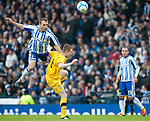 GLASGOW, SCOTLAND - JANUARY 28:  Killie's Liam Kelly and Ayr's Andy Geggan during the Scottish Communities Cup Semi Final match between Ayr United and Kilmarnock at Hampden Park on January 28, 2012 in Glasgow, United Kingdom. (Photo by Rob Casey/Getty Images).