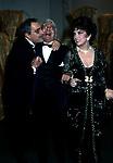 GINA LOLLOBRIGIDA,  ROGER PEYREFITTE E NINO MANFREDI<br /> PREMIO THE BEST<br /> PARIGI 1988