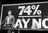 Deputy Leader of the GLC John McDonnell speaking at the Queen Elizabeth Hall London in March 1985