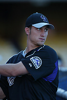 Cory Vance of the Colorado Rockies during a 2003 season MLB game at Dodger Stadium in Los Angeles, California. (Larry Goren/Four Seam Images)