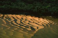 imagem aérea de bancos de areia formados na seca do rio Guaporé - Rondônia
