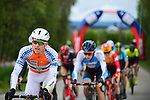 The peloton including Salmon Jersey Sindre Skjostad Lunke Team Fortuneo-Samsic in action during Stage 4 of the 2018 Artic Race of Norway, running 145.5km from Kvalsund to Alta, Norway. 18th August 2018. <br /> <br /> Picture: ASO/Gautier Demouveaux | Cyclefile<br /> All photos usage must carry mandatory copyright credit (© Cyclefile | ASO/Gautier Demouveaux)