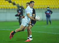 South's Will Jordan scores the wining try during the rugby match between North and South at Sky Stadium in Wellington, New Zealand on Saturday, 5 September 2020. Photo: Dave Lintott / lintottphoto.co.nz