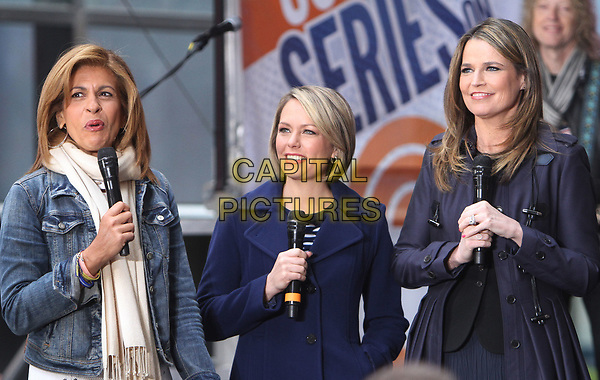 NEW YORK, NY - APRIL 19: Hoda Kotb, Dylan Dreyer and Savannah Guthrie pictured at NBC's Today Show in New York City on April 19, 2017. <br /> CAP/MPI/RW<br /> ©RW/MPI/Capital Pictures