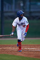 AZL Dodgers Mota Albert Suarez (63) at bat during an Arizona League game against the AZL Giants Orange on June 29, 2019 at Camelback Ranch in Glendale, Arizona. The AZL Giants Orange defeated the AZL Dodgers Mota 9-3. (Zachary Lucy/Four Seam Images)