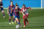 Liga IBERDROLA 2020-2021. Jornada: 10<br /> FC Barcelona vs Santa Teresa: 9-0.<br /> Mariona Caldentey vs Judith Verdaguer.