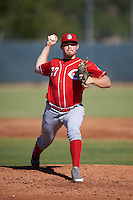 Cincinnati Reds pitcher Jeremy Kivel (77) during an Instructional League game against the Milwaukee Brewers on October 14, 2016 at the Maryvale Baseball Park Training Complex in Maryvale, Arizona.  (Mike Janes/Four Seam Images)