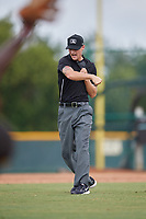 Umpire Justin Widdon calls a runner out during an Instructional League game between the Detroit Tigers and Pittsburgh Pirates on October 6, 2017 at Pirate City in Bradenton, Florida.  (Mike Janes/Four Seam Images)
