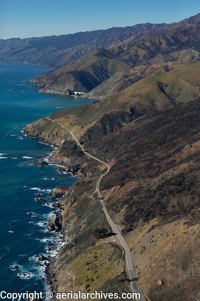 aerial photograph of Highway One, Big Sur Monterey County, California