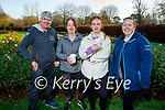 Damien Stack, Marion and Laura McElligott and Valerie Stack enjoying a stroll in the Tralee town park on Sunday.