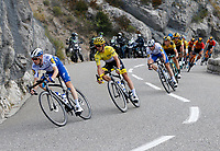 31st August 2020, Nice to Sisteron, France; Tour de France cycling tour, stage 3;  DEVENYNS Dries of Deceuninck - Quick Step, ALAPHILIPPE Julian (FRA) of DECEUNINCK - QUICK - STEP