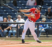 13 April 2008: Outfielder Carl Loadenthal (4) of the Mississippi Braves, Class AA affiliate of the Atlanta Braves, in a game against the Mobile BayBears at Trustmark Park in Pearl, Miss. Photo by:  Tom Priddy/Four Seam Images