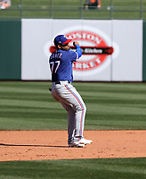 Andy Ibanez - Texas Rangers 2021 spring training (Bill Mitchell)