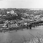 Pittsburgh PA:  View of Pittsburgh's Northside with the Allegheny General Hospital in the background.