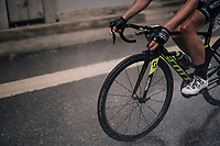 Michael Albasini (SUI/Mitchelton-Scott) racing through/in the shower<br /> <br /> Stage 4: Gansingen > Gstaad (189km)<br /> 82nd Tour de Suisse 2018 (2.UWT)