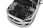 Car Stock 2016 Mitsubishi Lancer ES-CVT 4 Door Sedan Engine  high angle detail view
