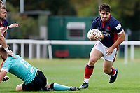 Matt Gordon of London Scottish in action during the Championship Cup match between London Scottish Football Club and Nottingham Rugby at Richmond Athletic Ground, Richmond, United Kingdom on 28 September 2019. Photo by Carlton Myrie / PRiME Media Images