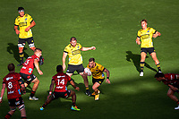 Hurricanes' Wes Goosen in action during the Super Rugby Aotearoa match between the Hurricanes and Crusaders at Sky Stadium in Wellington, New Zealand on Sunday, 11 April 2020. Photo: Dave Lintott / lintottphoto.co.nz