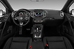 Stock photo of straight dashboard view of 2016 Volkswagen Tiguan 2.0T-R-Line 5 Door SUV Dashboard