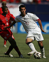 July 24, 2005: East Rutherford, NJ, USA:  USMNT forward Clint Dempsey (8) passes the ball during the CONCACAF Gold Cup Finals at Giants Stadium.  The USMNT won 3-1 on penalty kicks.