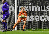 goalkeeper Lowiese Seynhave (1) of Anderlecht pictured during a female soccer game between RSC Anderlecht Dames and SV Zulte Waregem on the 10 th matchday of the 2020 - 2021 season of Belgian Womens Super League , friday 18 th of December 2020  in Tubize , Belgium . PHOTO SPORTPIX.BE | SPP | DAVID CATRY