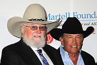 06 July 2020 - Country music and southern rock legend Charlie Daniels has passed away after suffering a stroke. The Grand Ole Opry member and Country Music Hall of Famer was 83. File Photo: 27 February 2017 - Nashville, Tennessee - Charlie Daniels and George Strait. T.J. Martell Foundation 9th Annual Nashville Honors Gala  held at the Omni Hotel. Photo Credit: Laura Farr/AdMedia