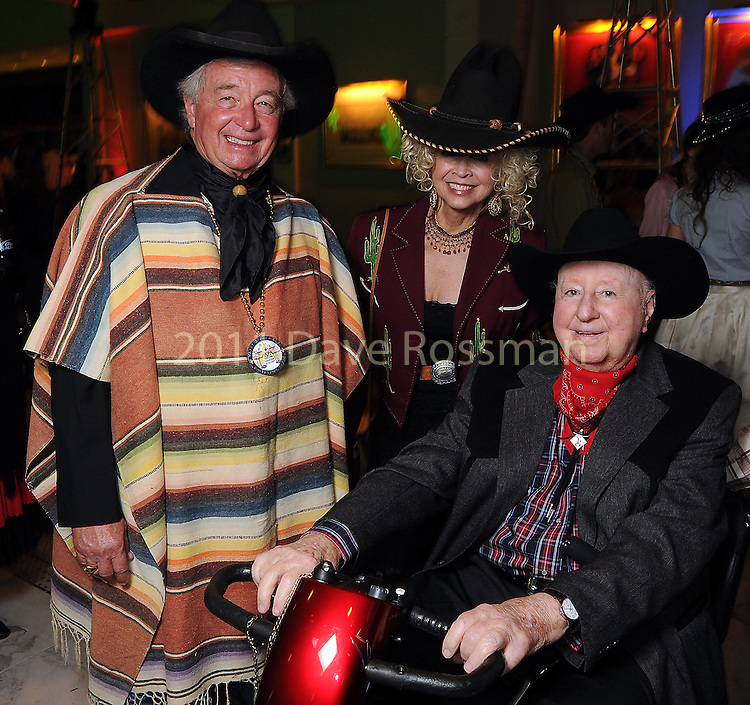 """Janie and Dick DeGuerin with George Mitchell at the """"Waltz Across Texas""""  Mardi Gras Ball at The Tremont Hotel Saturday Feb. 09, 2013.(Dave Rossman/ For the Chronicle)"""