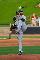 Clinton LumberKings pitcher Lukas Schiraldi (45) on the mound during a Midwest League game against the Wisconsin Timber Rattlers on May 9th, 2016 at Fox Cities Stadium in Appleton, Wisconsin.  Clinton defeated Wisconsin 6-3. (Brad Krause/Four Seam Images)