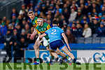 Seán O'Shea, Kerry in action against Eric Lowndes, Dublin during the Allianz Football League Division 1 Round 1 match between Dublin and Kerry at Croke Park on Saturday.